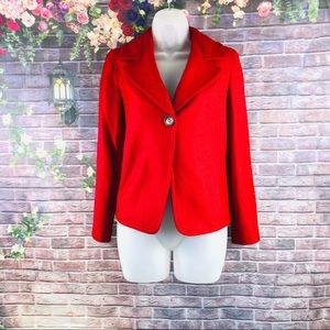 Talbots Women's Blazer Notched Shawl One Bottom